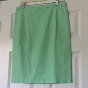 J. Crew Mint Pencil Skirt NWT Spring 2015